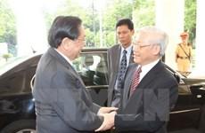 Các nhà lãnh đạo Việt Nam gửi điện mừng Quốc khánh Lào