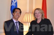 Tăng cường thúc đẩy khai thác tiềm năng quan hệ Việt Nam-Quebec