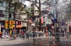Hà Nội: Chập cháy điện tại phố Lò Đúc, phát ra nhiều tiếng nổ