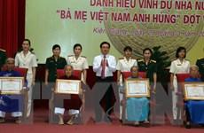 Phong tặng, truy tặng danh hiệu cho 184 Mẹ Việt Nam anh hùng