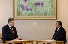 Tổng thống Ukraine Poroshenko kêu gọi Nhật gây áp lực với Nga