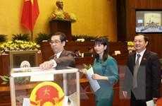 Tiến hành phê chuẩn bổ nhiệm 3 Phó Thủ tướng và các bộ trưởng