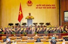 Phê chuẩn đề nghị bổ nhiệm 3 Phó Thủ tướng và các bộ trưởng