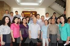 Tổng Bí thư tiến hành tiếp xúc cử tri, vận động bầu cử tại Hà Nội