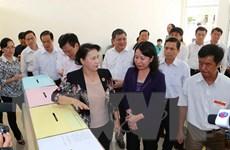 Chủ tịch Quốc hội kiểm tra công tác chuẩn bị bầu cử tại An Giang