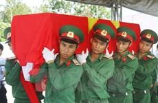 An táng hài cốt liệt sỹ Việt Nam hy sinh tại Lào và Campuchia