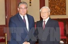 Tổng Bí thư tiếp đoàn đại biểu cấp cao Đảng Cộng sản Hy Lạp