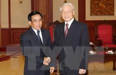 Việt-Lào chia sẻ thông tin, kinh nghiệm về công tác xây dựng Đảng