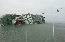 Thuyền chở 10 người bất ngờ bị lật trên nhánh sông Dương Tử