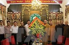 Thăm, chúc mừng Giáo hội Phật giáo Việt Nam nhân mùa Vu lan