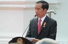 Tổng thống Jokowi chuyển tải bài phát biểu qua Video 360 độ