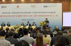 FTA giữa Việt Nam và Liên minh kinh tế Á-Âu có hiệu lực vào 5/10