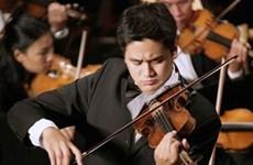 Nghệ sỹ violin Bùi Công Duy trình diễn hòa nhạc hữu nghị Việt-Mỹ