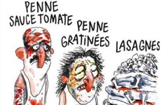 Italy phẫn nộ vì biếm họa về động đất của tạp chí Charlie Hebdo