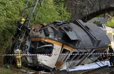 Tàu du lịch trật bánh khi đâm vào trụ cầu, 51 người thương vong