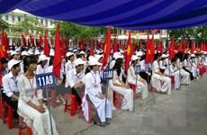 Nguyên Chủ tịch nước Trương Tấn Sang dự lễ khai giảng tại Phú Yên