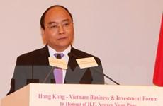 Thủ tướng dự Diễn đàn kinh doanh và đầu tư Việt Nam-Hong Kong