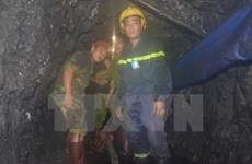 Một công nhân mắc kẹt tại công trình hầm lò mỏ than Núi Béo