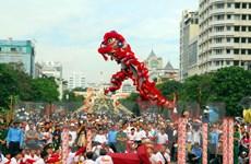 Tưng bừng Liên hoan lân-sư-rồng trên Phố đi bộ Nguyễn Huệ