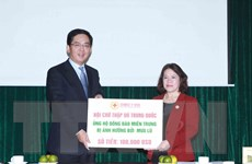Trung Quốc ủng hộ người dân vùng lũ miền Trung 100.000 USD