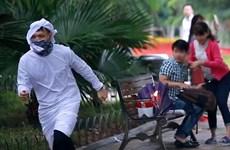 """Công an thành phố Hà Nội làm rõ nhóm tung clip """"ra đường đốt bom"""""""