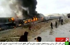 Số người thương vong trong vụ tai nạn tàu hỏa tại Iran tăng cao