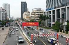 Hà Nội tiến hành phân luồng giao thông nút giao Láng Hạ-Thái Hà