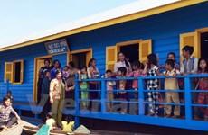 Campuchia: Khánh thành trường học trên Biển Hồ cho con em Việt kiều