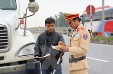 Ra quân thực hiện cao điểm bảo đảm trật tự giao thông dịp Tết