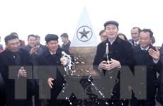 Chủ tịch nước Trần Đại Quang dự lễ thượng cờ trên đỉnh Fansipan
