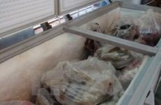 Thu giữ hơn 120kg thịt lợn, thịt bò đã chuyển màu, bốc mùi