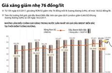 [Infographics] Giá xăng giảm nhẹ về mức 18.022 đồng mỗi lít