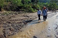 Khắc phục sự cố vỡ đập ngăn bể chứa bùn thải tại Nghệ An