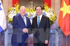 Chủ tịch nước Trần Đại Quang đón, hội đàm với Tổng thống Israel
