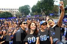 Tổ chức míttinh và đi bộ hưởng ứng Giờ Trái Đất tại Hà Nội