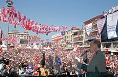 Tổng thống Thổ Nhĩ Kỳ Erdogan kêu gọi ủng hộ sửa đổi Hiến pháp