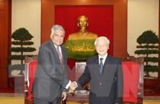 Tổng Bí thư Nguyễn Phú Trọng tiếp Thủ tướng Sri Lanka Wickremesinghe