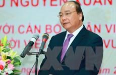 Thủ tướng Nguyễn Xuân Phúc tới thăm Đại Tăng thống Tep Vong