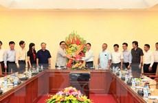 Bí thư Thành ủy Hà Nội thăm, chúc mừng Thông tấn xã Việt Nam