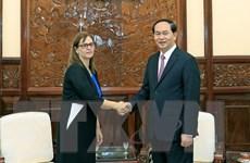 Chủ tịch nước Trần Đại Quang tiếp Đại sứ Israel tới chào từ biệt