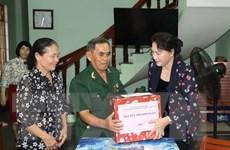 Chủ tịch Quốc hội thăm hỏi người có công trên địa bàn tỉnh Quảng Ngãi