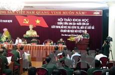 Quân ủy Trung ương dâng hương tưởng niệm Thượng tướng Song Hào