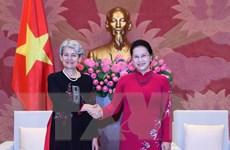 Chủ tịch Quốc hội Nguyễn Thị Kim Ngân tiếp Tổng Giám đốc UNESCO