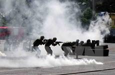 [Photo] Diễn tập phòng chống khủng bố, bảo đảm an ninh cảng biển