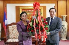 Lãnh đạo bộ, ngành của Lào chúc mừng Quốc khánh Việt Nam