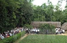 Người dân nô nức về Khu di tích Kim Liên tri ân Bác Hồ trong ngày 2/9