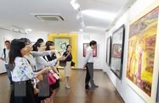 Khai mạc triển lãm mỹ thuật Việt Nam-Lào-Campuchia