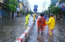 Một số khu vực tại Hà Nội bị ngập úng do mưa lớn trên diện rộng