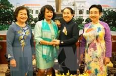 Lãnh đạo TP.HCM tiếp Chủ tịch Hội nghị Thượng đỉnh phụ nữ toàn cầu