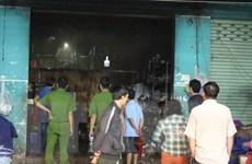 Bình Dương: Cháy kiốt làm một người chết, ba người bị bỏng nặng